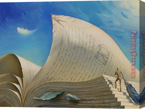 Vladimir Kush Ascent of The Spirit Stretched Canvas Painting