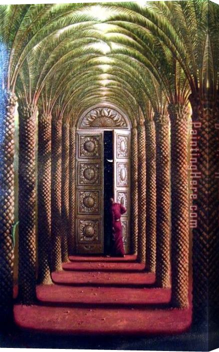Vladimir Kush Doors of The Night Stretched Canvas Painting & Vladimir Kush Doors of The Night Stretched Canvas Painting for sale ...