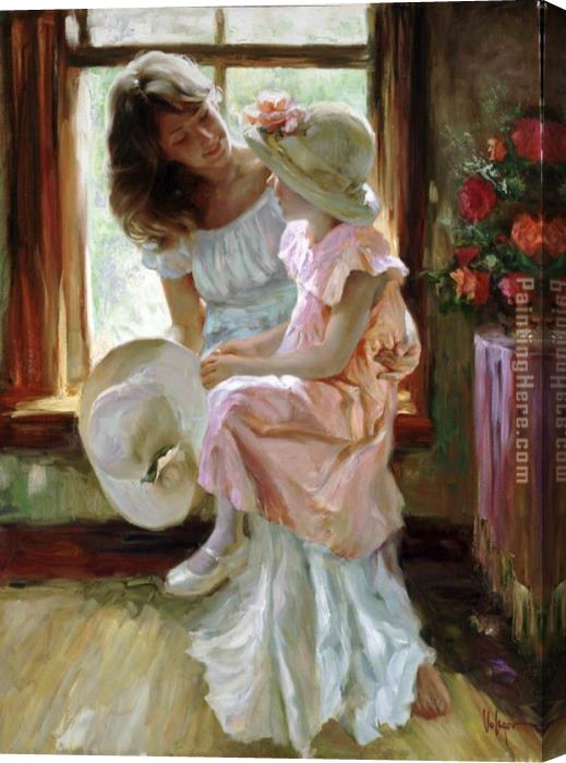 Vladimir Volegov A Mid-Morning Chat Stretched Canvas Painting