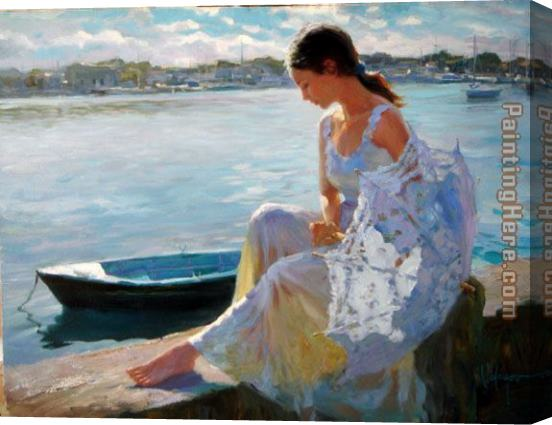 Vladimir Volegov River of Dreams Stretched Canvas Painting