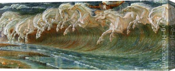 Crane Walter The Horses of Neptune. Mythological Fine Art Print ...