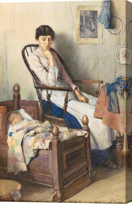Walter Langley Motherhood Stretched Canvas Painting