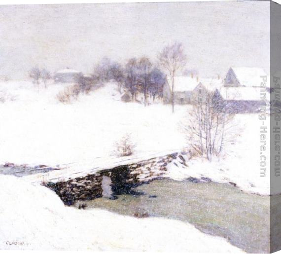 Willard Leroy Metcalf The White Mantle Stretched Canvas Painting