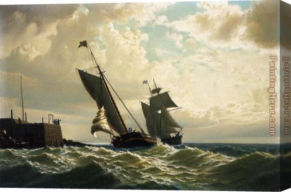 William Bradford Making Harbor Stretched Canvas Painting