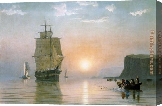 William Bradford Sunrise off Grand Manan Stretched Canvas Painting