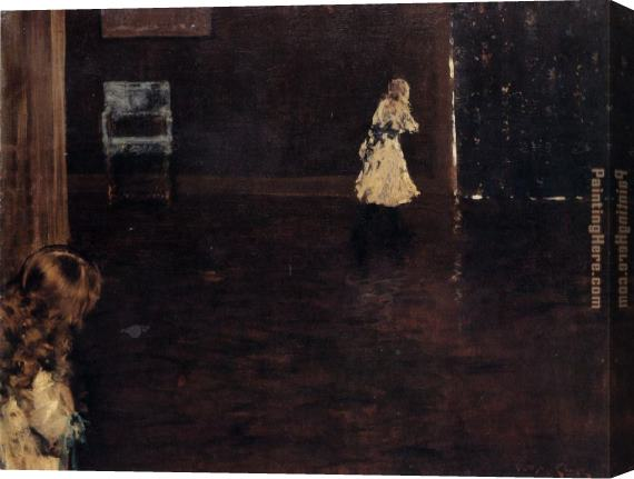 William Merritt Chase Hide And Seek Stretched Canvas Painting