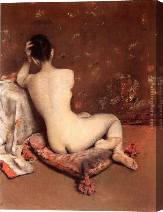 William Merritt Chase The Model Stretched Canvas Painting