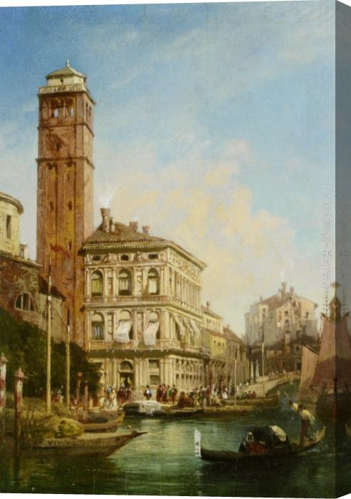 William Wilde San Geremia with the Palazzo Labia Venice Stretched Canvas Painting