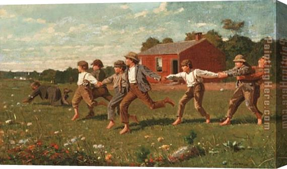 Winslow Homer Snap the Whip Stretched Canvas Painting