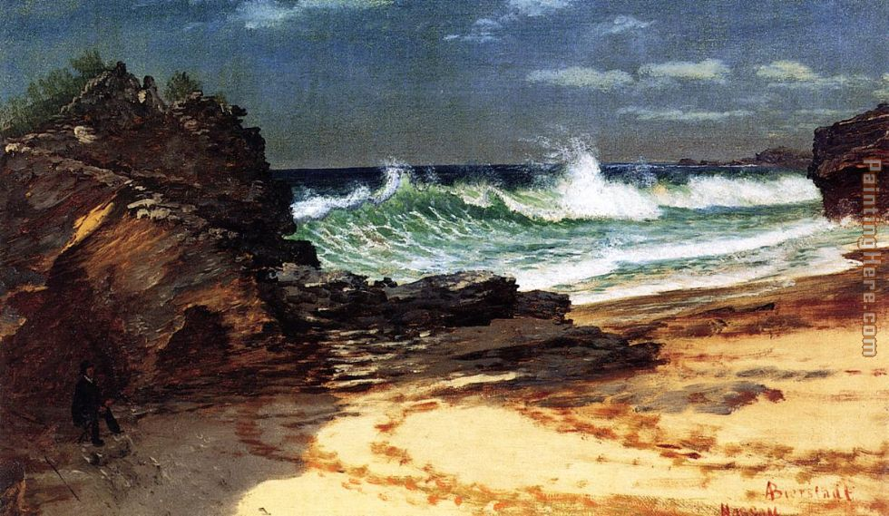 Beach at Nassau painting - Albert Bierstadt Beach at Nassau art painting