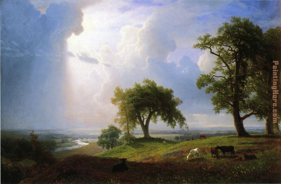 California Spring painting - Albert Bierstadt California Spring art painting
