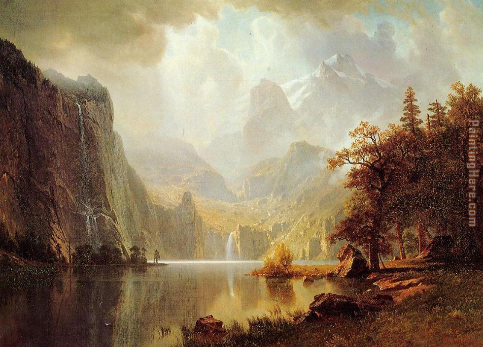 Albert bierstadt albert bierstadt in the mountains painting