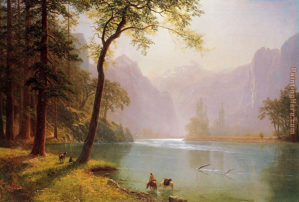 Kerns River Valley California painting - Albert Bierstadt Kerns River Valley California art painting