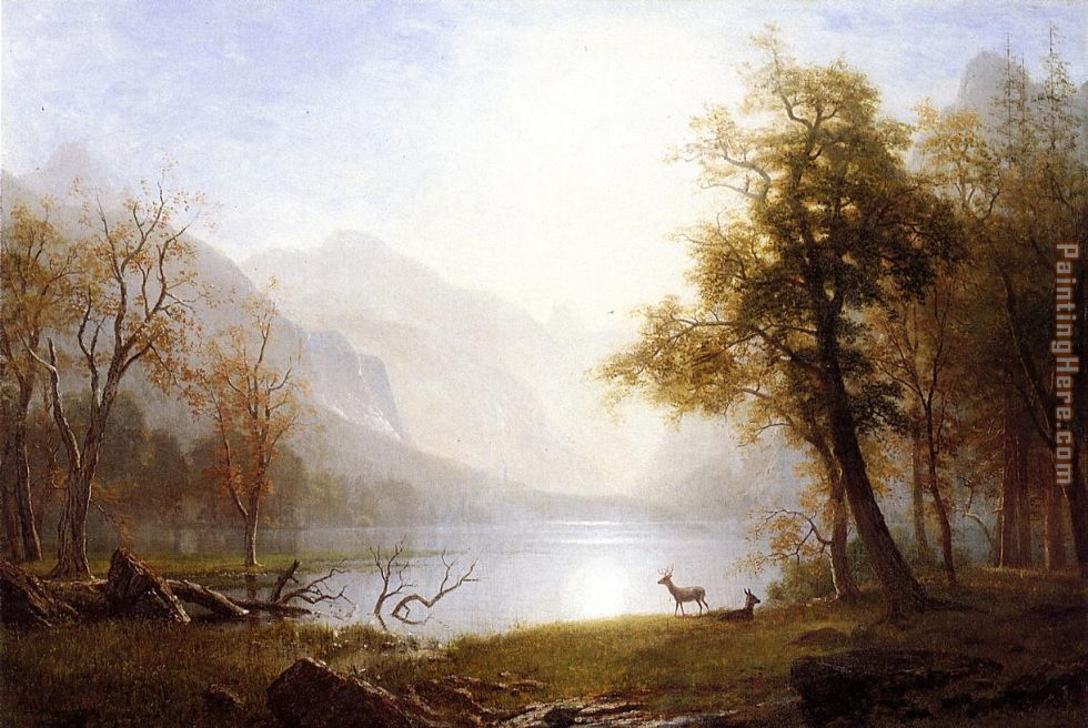 Albert Bierstadt Valley in Kings Canyon Art Painting
