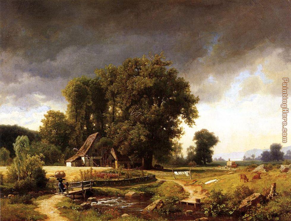 Albert bierstadt westphalian landscape painting anysize 50 for Artwork landscapes