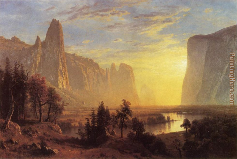 Yosemite Valley Yellowstone Park painting - Albert Bierstadt Yosemite Valley Yellowstone Park art painting