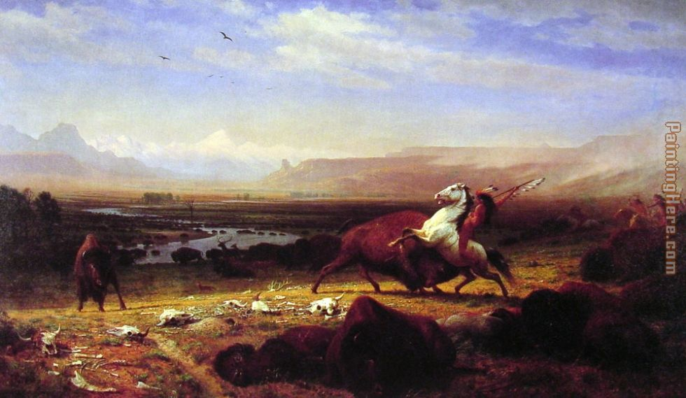 The Last of the Buffalo painting - Albert Bierstadt The Last of the Buffalo art painting