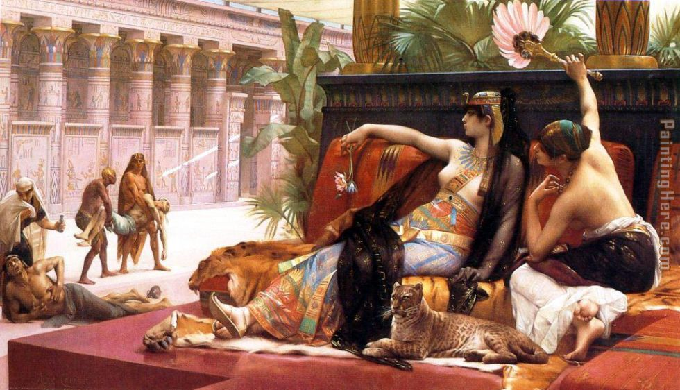 Alexandre Cabanel Cleopatra Testing Poisons on Condemned Prisoners Art Painting