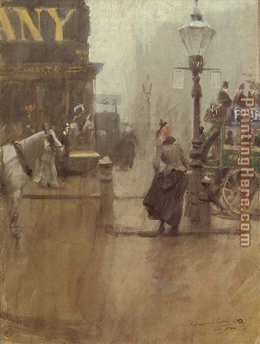 Anders Zorn Impressions of London Art Painting