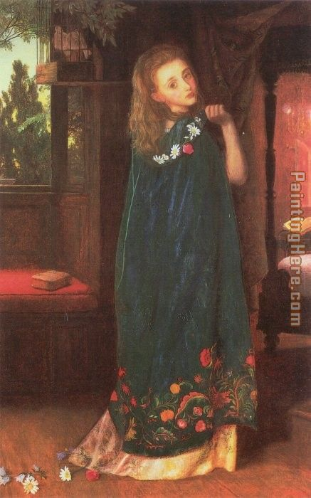 Good Night painting - Arthur Hughes Good Night art painting