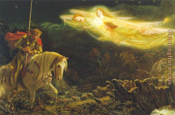 Sir Galahad painting - Arthur Hughes Sir Galahad art painting