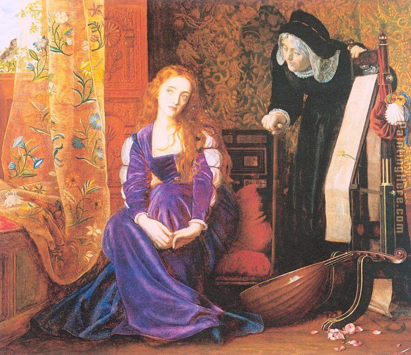 Arthur Hughes The Pained Heart Art Painting