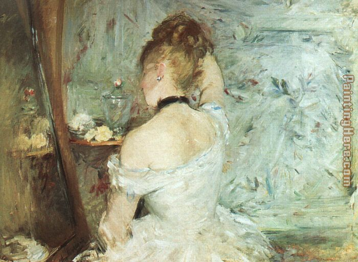 A Woman at her Toilette painting - Berthe Morisot A Woman at her Toilette art painting