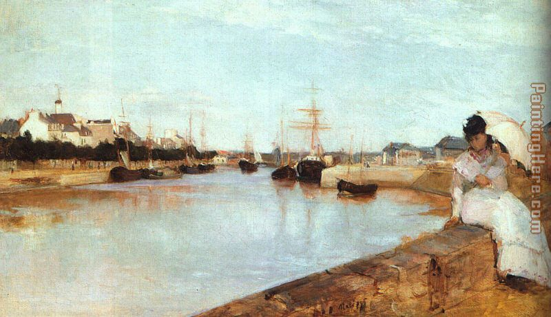 The Harbor at Lorient painting - Berthe Morisot The Harbor at Lorient art painting