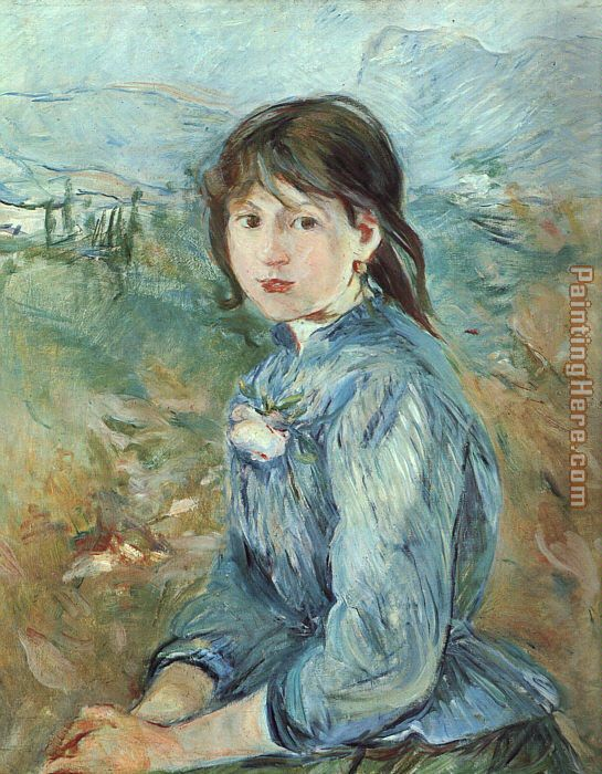 The Little Girl from Nice painting - Berthe Morisot The Little Girl from Nice art painting