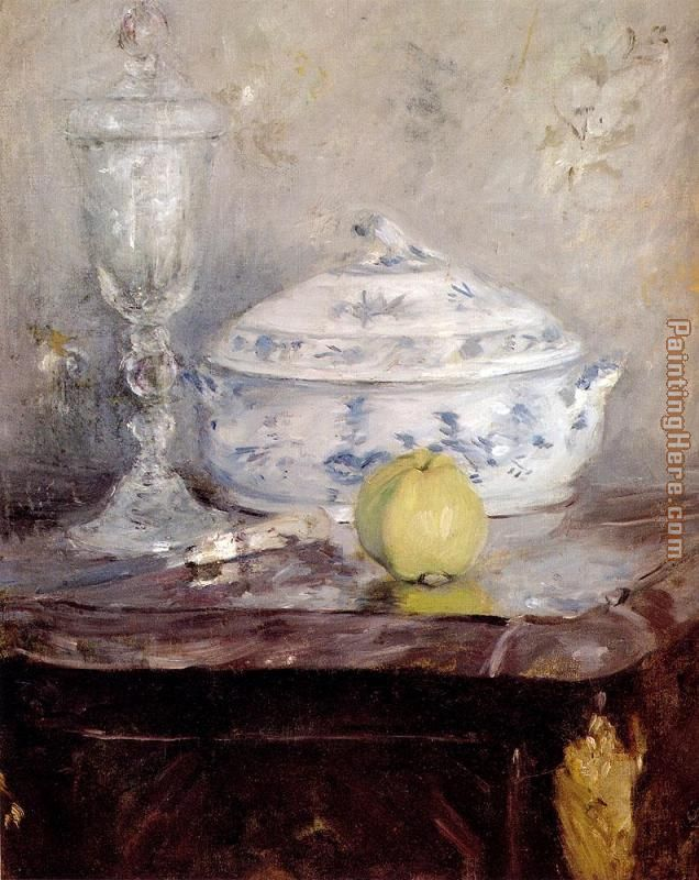 Tureen And Apple painting - Berthe Morisot Tureen And Apple art painting