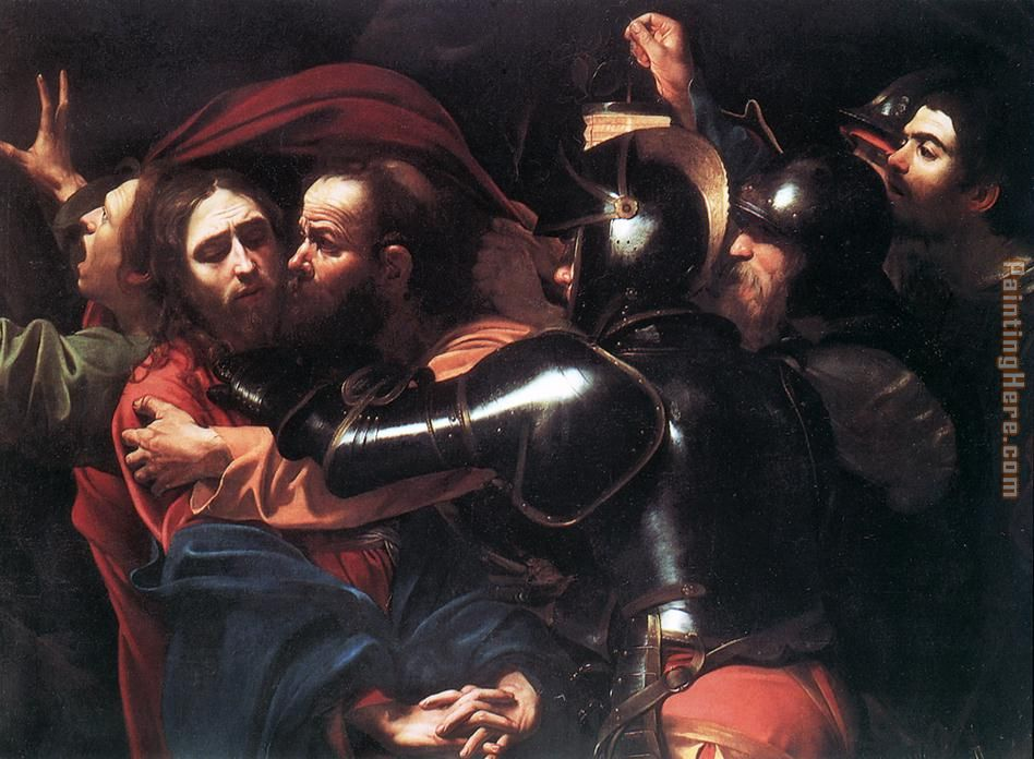 Taking of Christ painting - Caravaggio Taking of Christ art painting