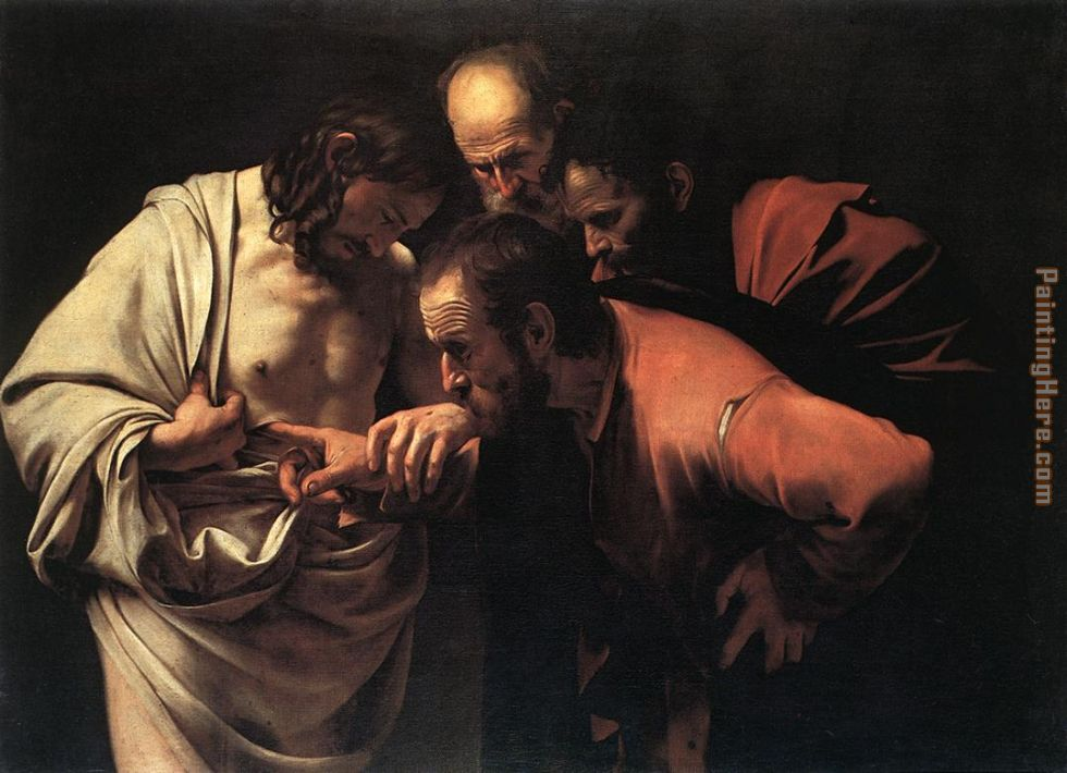 Caravaggio The Incredulity of Saint Thomas Art Painting