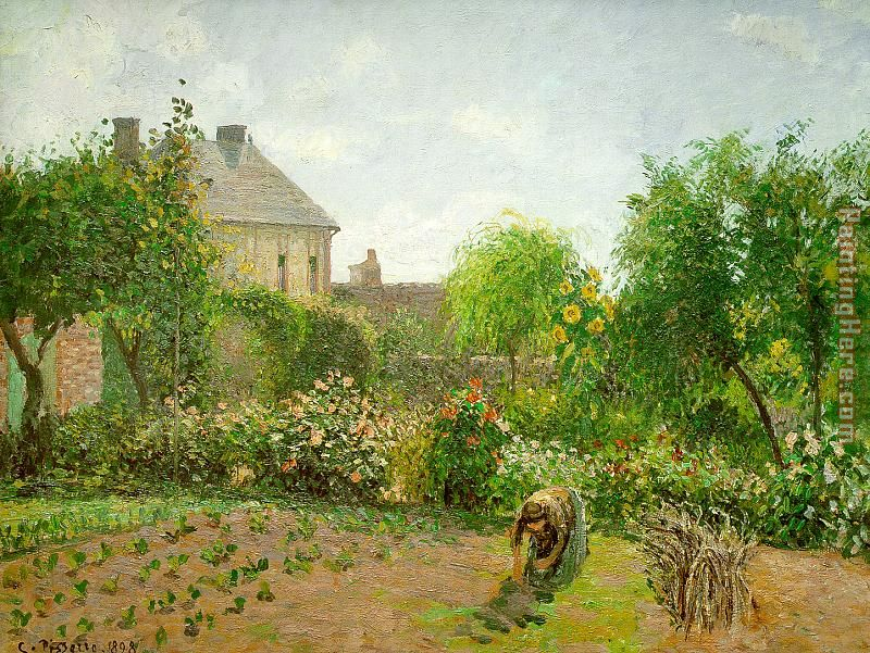 The Artist's Garden at Eragny painting - Camille Pissarro The Artist's Garden at Eragny art painting