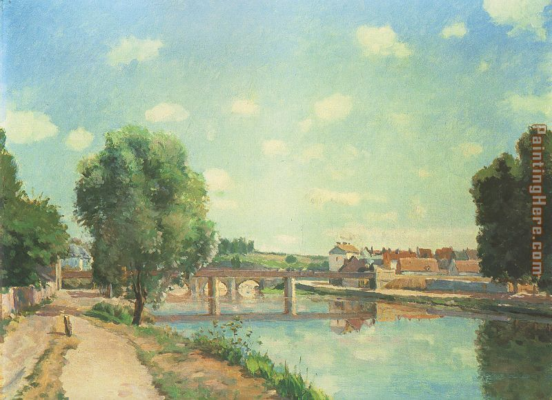 The Railway Bridge at Pontoise painting - Camille Pissarro The Railway Bridge at Pontoise art painting