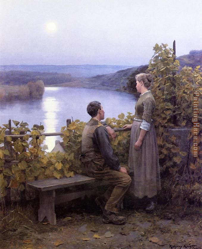 Summer Evening painting - Daniel Ridgway Knight Summer Evening art painting
