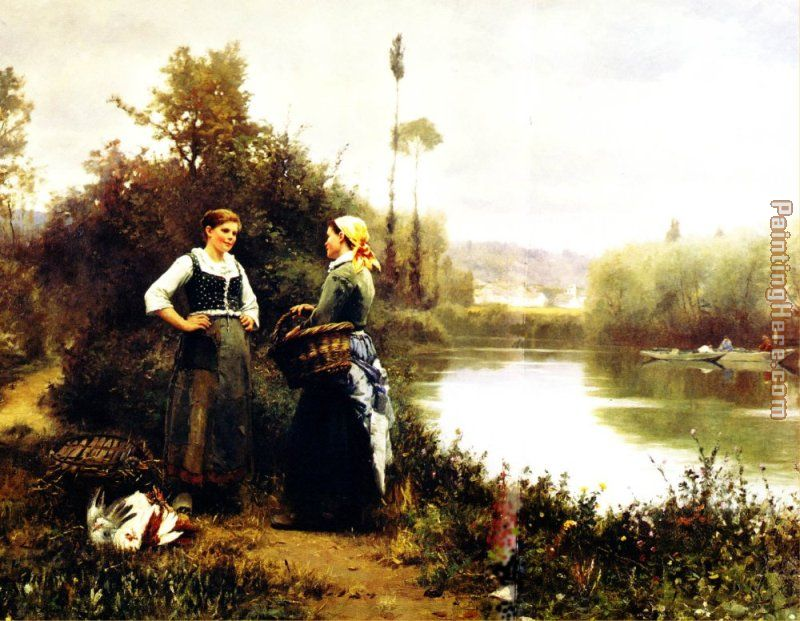On the Way to Market painting - Daniel Ridgway Knight On the Way to Market art painting