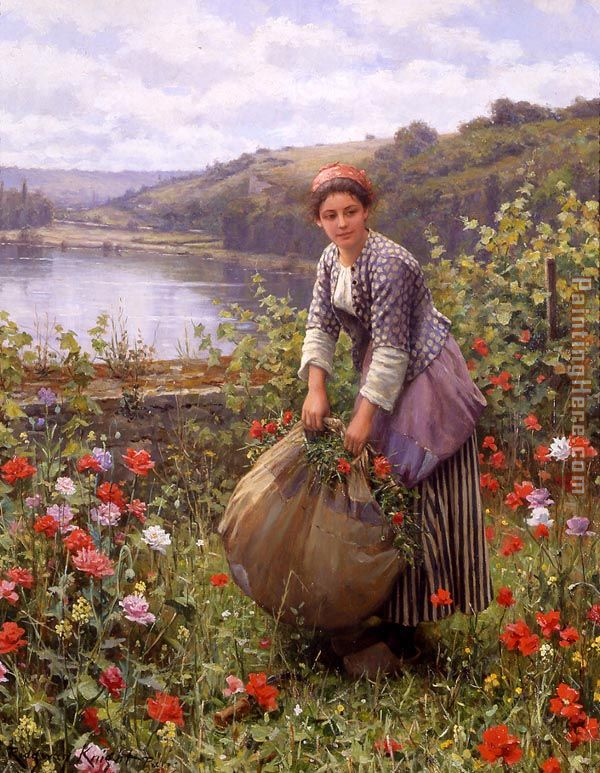 The Grass Cutter painting - Daniel Ridgway Knight The Grass Cutter art painting