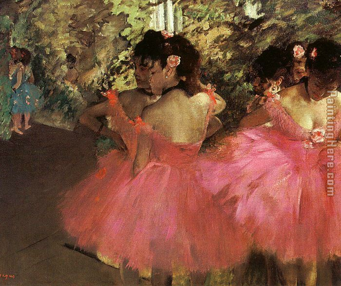 Dancers in Pink painting - Edgar Degas Dancers in Pink art painting
