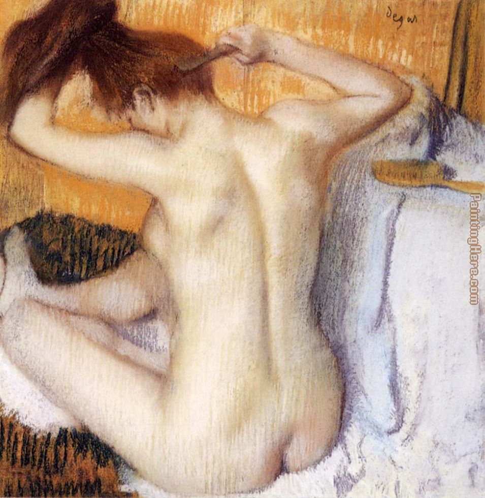 Woman Combing Her Hair painting - Edgar Degas Woman Combing Her Hair art painting