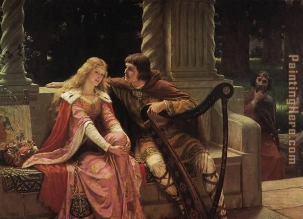 The End of The Song painting - Edmund Blair Leighton The End of The Song art painting