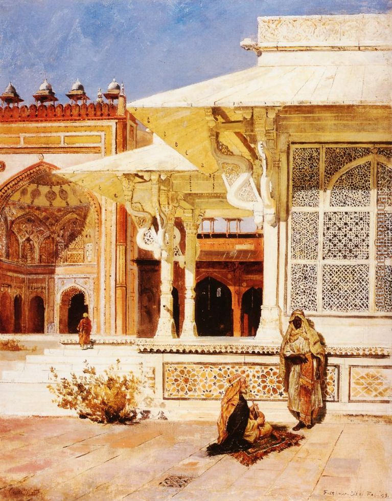 White Marble Tomb at Suittitor Skiri painting - Edwin Lord Weeks White Marble Tomb at Suittitor Skiri art painting