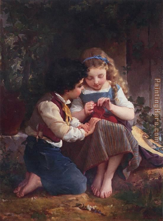 A Special Moment painting - Emile Munier A Special Moment art painting
