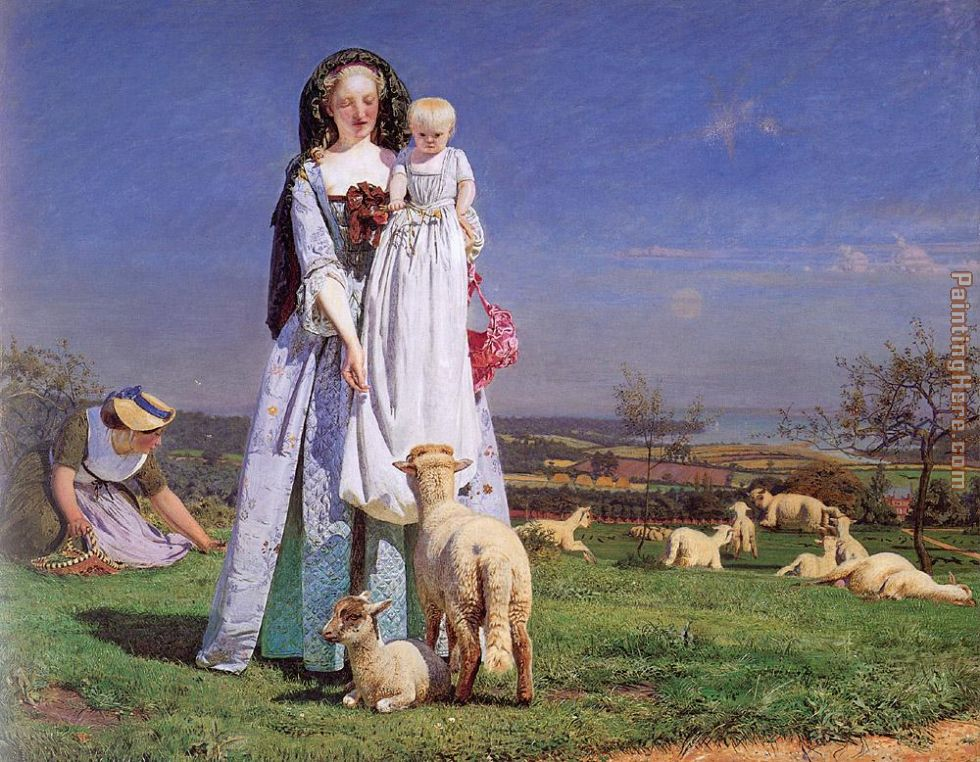 Ford Madox Brown The Pretty Baa-Lambs Art Painting