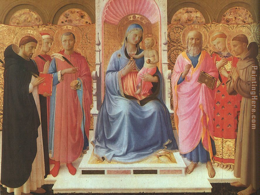 Annalena Altarpiece painting - Fra Angelico Annalena Altarpiece art painting