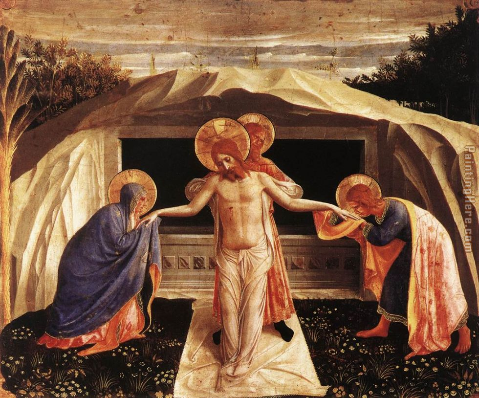 Entombment painting - Fra Angelico Entombment art painting