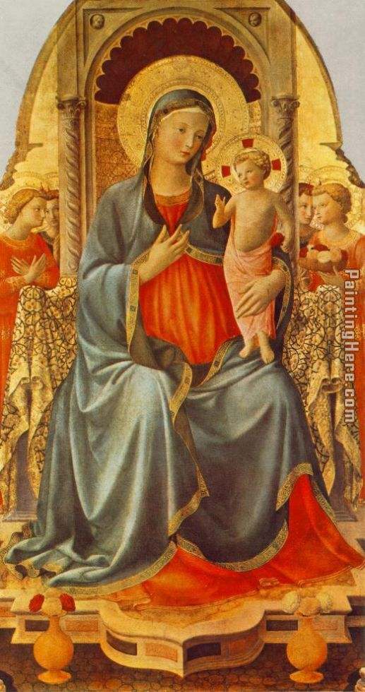 Madonna with the Child and Angels painting - Fra Angelico Madonna with the Child and Angels art painting