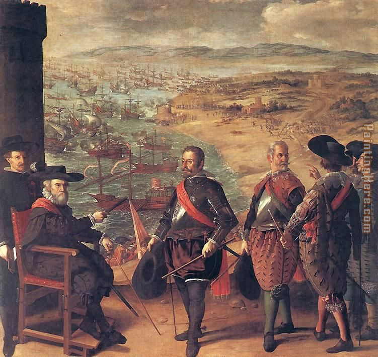 Defence of Cadiz against the English painting - Francisco de Zurbaran Defence of Cadiz against the English art painting
