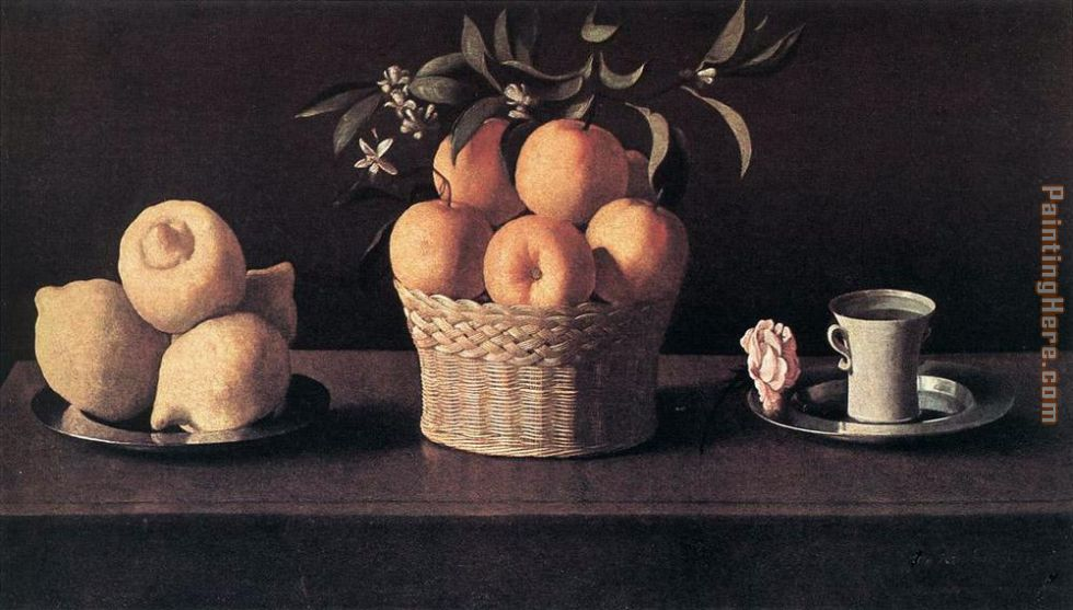 Still life with Oranges painting - Francisco de Zurbaran Still life with Oranges art painting