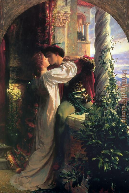 Romeo and Juliet painting - Frank Dicksee Romeo and Juliet art painting