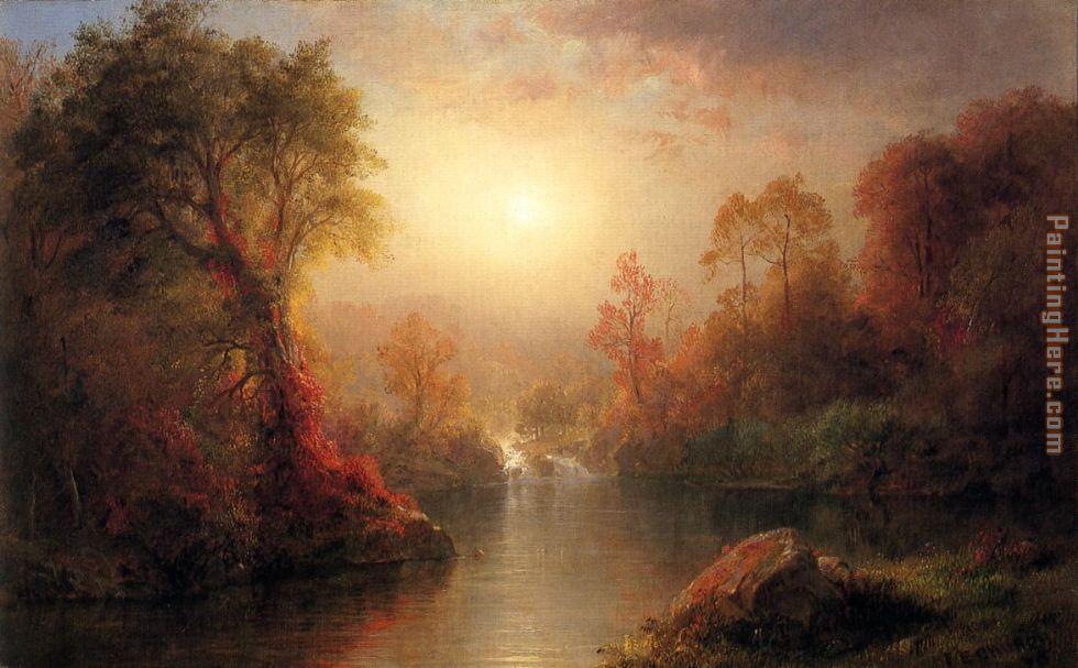 Autumn painting - Frederic Edwin Church Autumn art painting